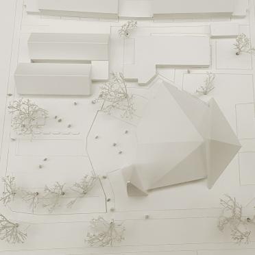 Draufsicht eines Gebäudes 3D gedruckt für Architekten
