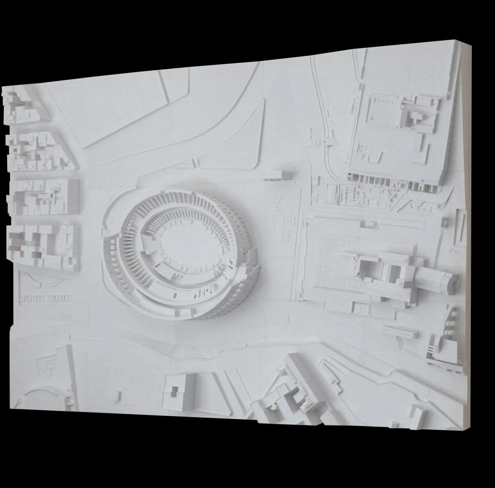 Modell von Rom mit 3D Druckern hergestellt