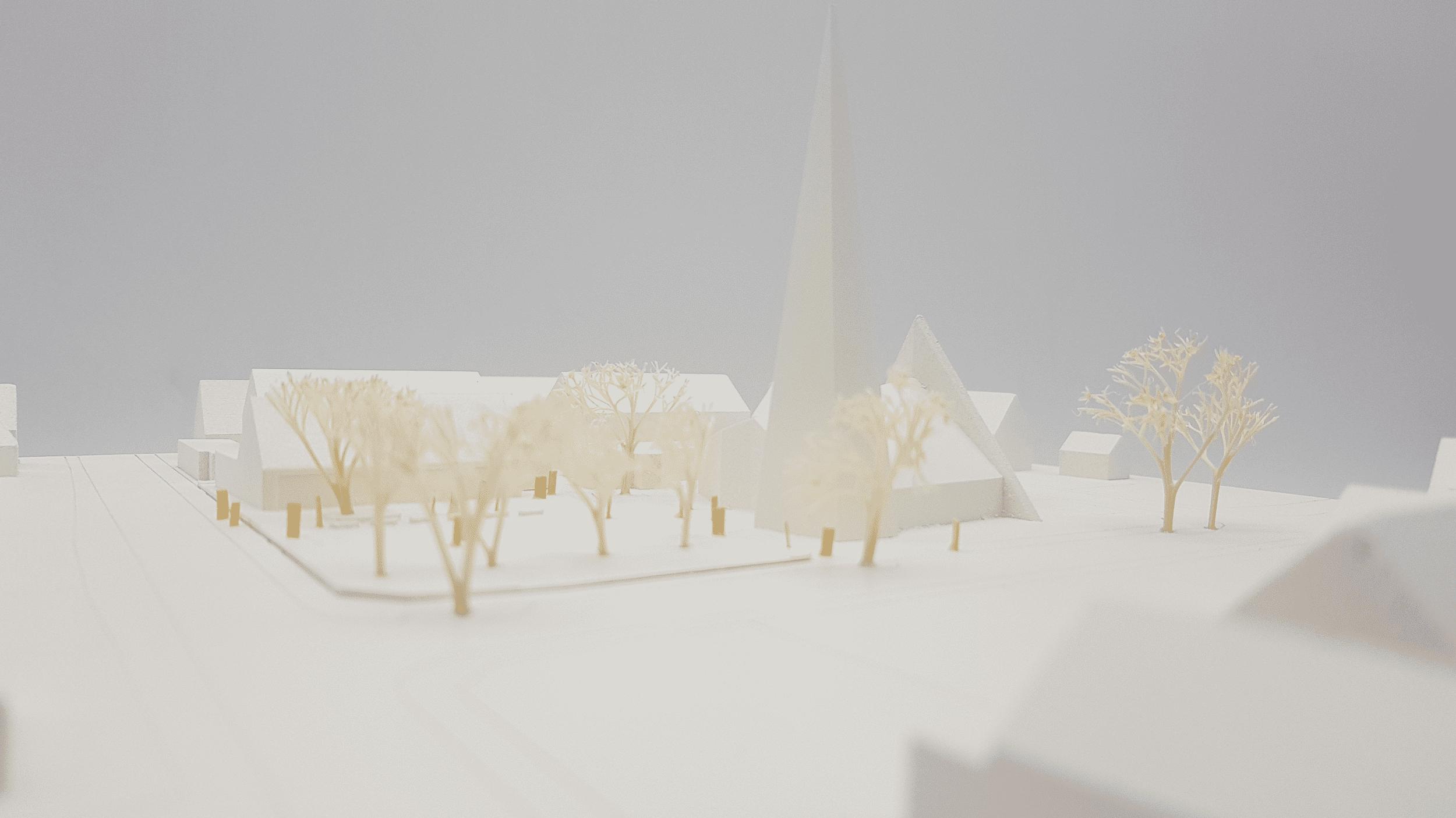 3D gedruckte Kirche für Architekten mit Modellbau