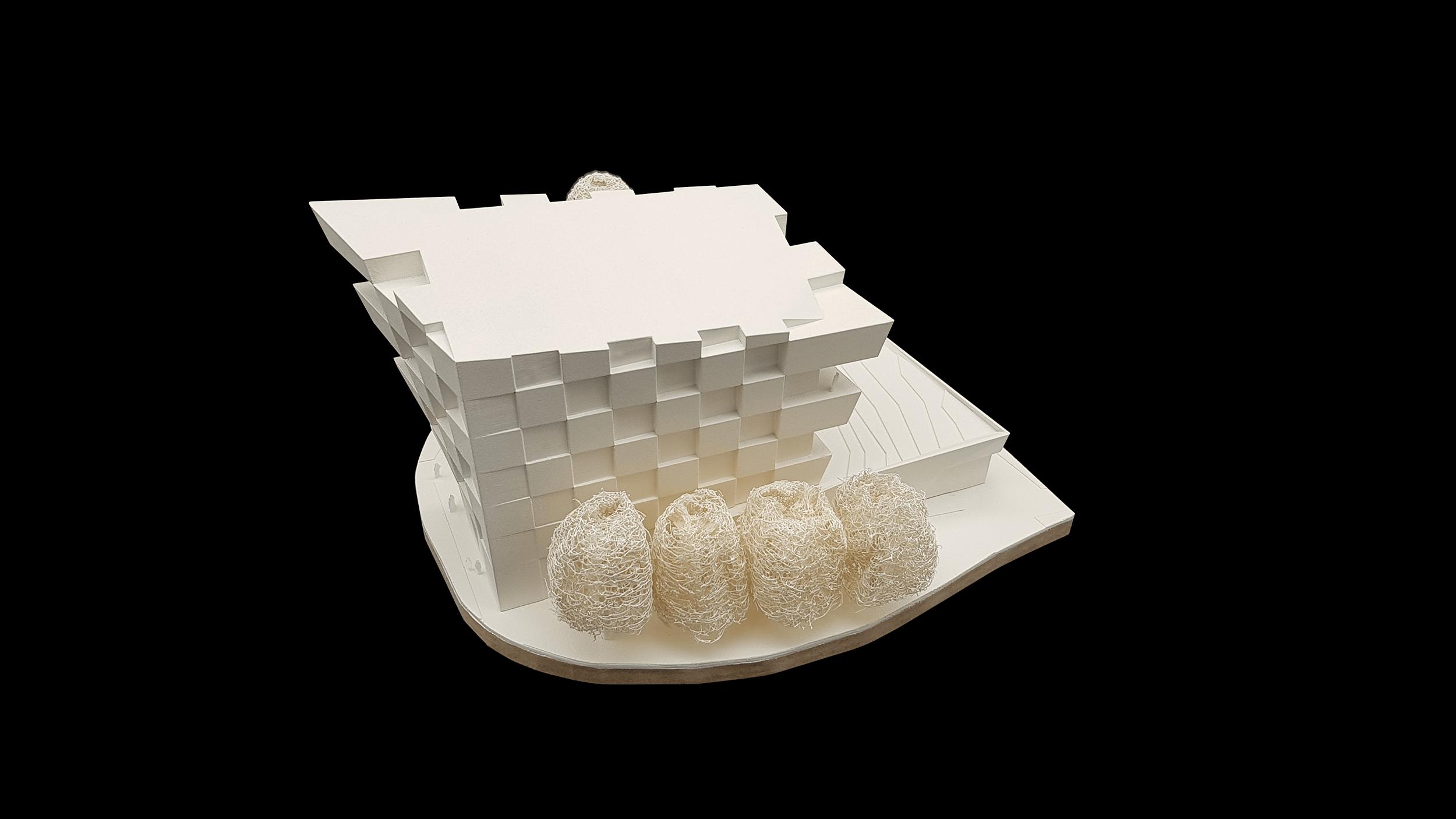 Wettbewerbsmodell für Architekten additiv hergestellt