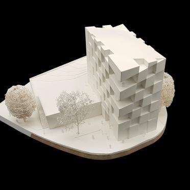 Präsentation eines 3D gedruckten Architekturmodells