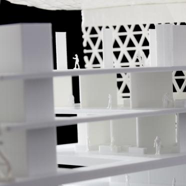Schnittmodell eines Architekturmodells in Heidelberg aus Kunststoff gedruckt