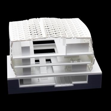 Präsentation eines Schnittmodells für Architekten mit 3D Druck gefertigt