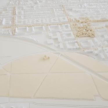 Ständtebaumodell in Heidelberg in weißem Kunststoff 3D gedruckt