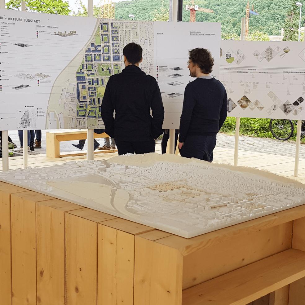 Ausstellung eines 3D Modells in Heidelberg für Architekten
