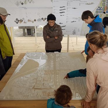 Ausstellung eines 3D gedruckten Städtebaumodells in Heidelberg