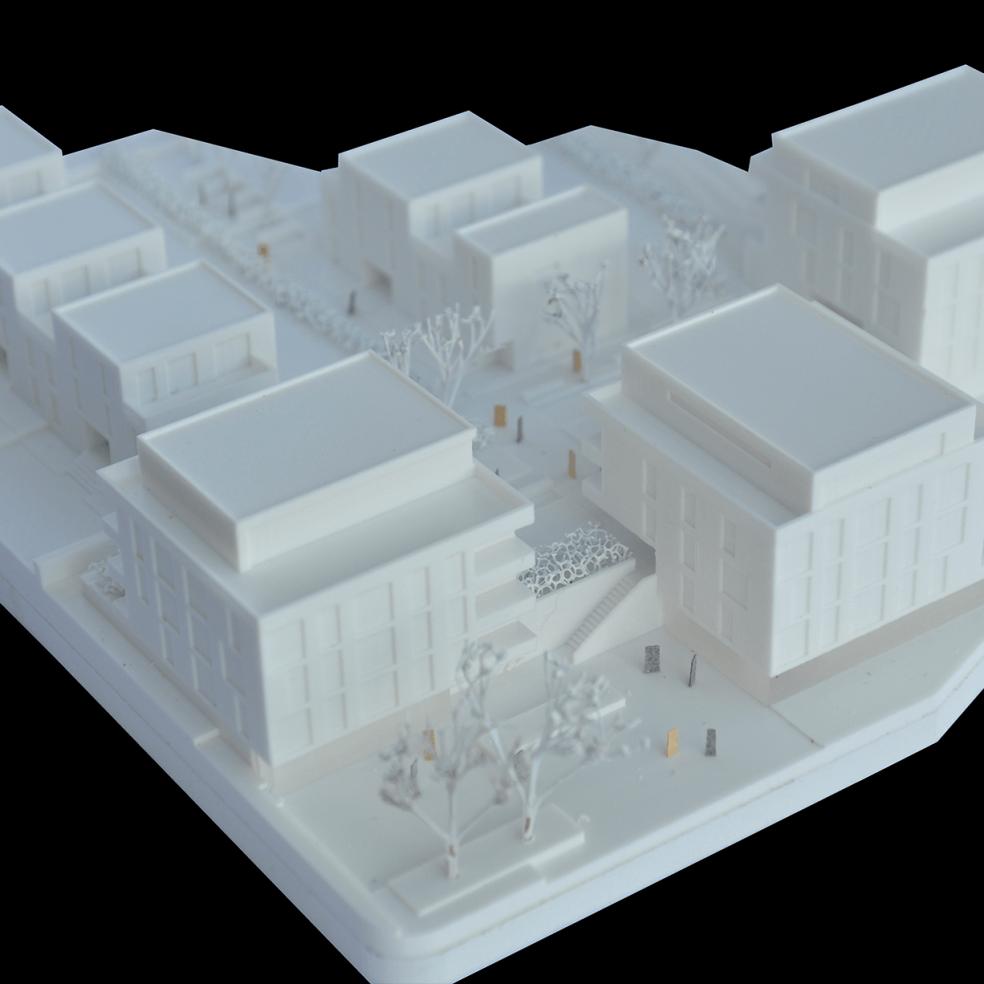 Wettbwewerbsmodell für Architekten mit additiven Fertigungsverfahren produziert