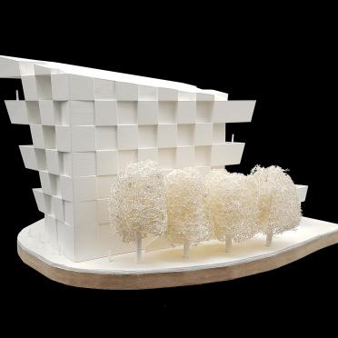 Wettbewerbsmodell für Architekten mit Modellbau und 3D gedrucktem Haus