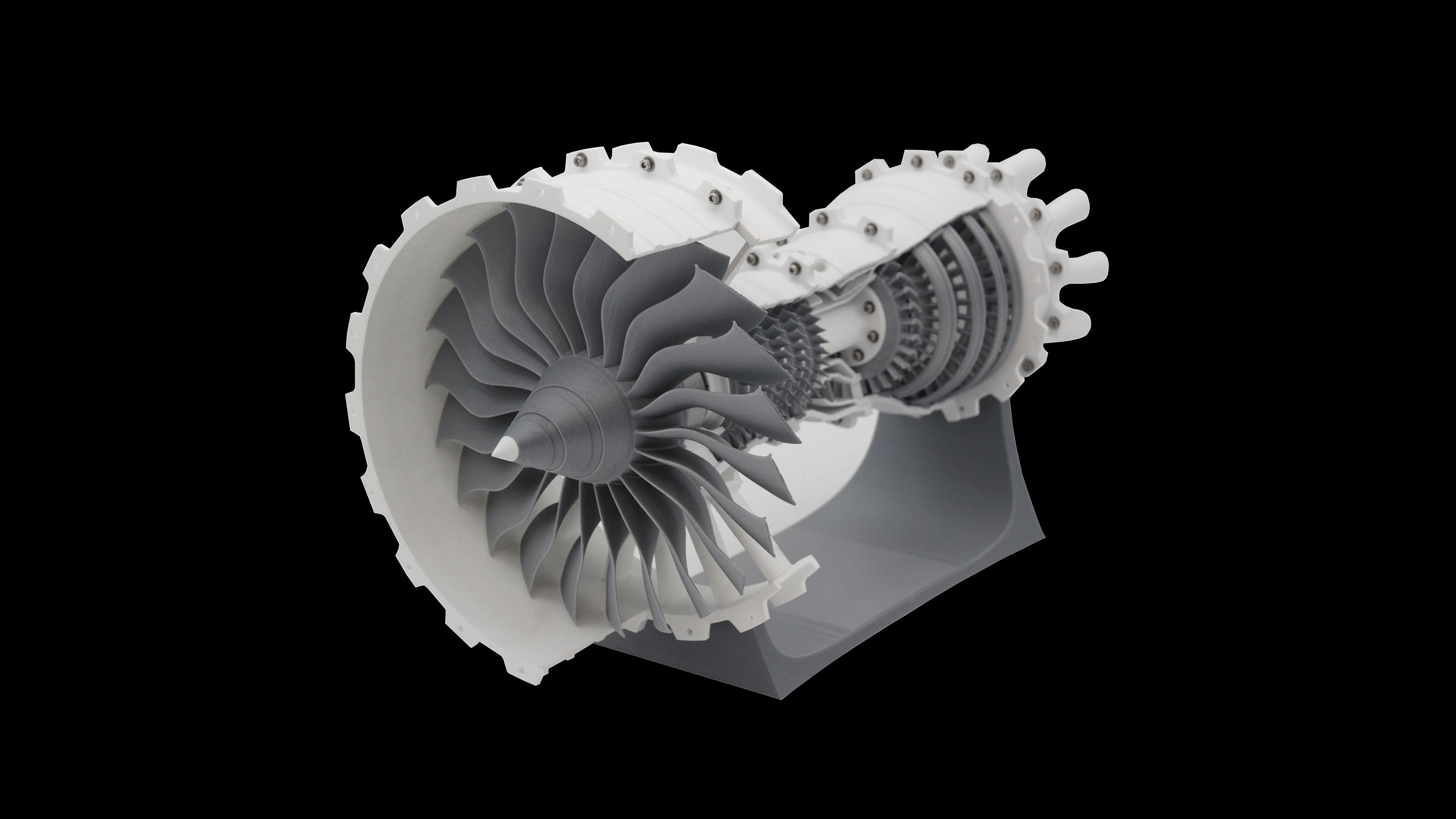 3D Modell einer Turbine mit 3D Druck hergestellt