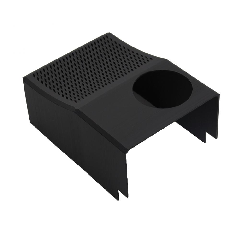 Verkleidungsteil im Maschinenbaubereich aus schwarzen Kunststoff 3D gedruckt