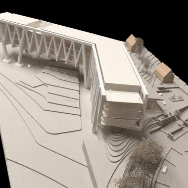Architekturmodell weiß 3D-Druck