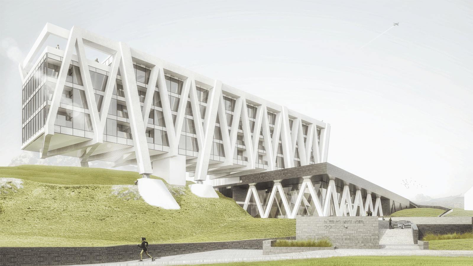 Rendering Architekturmodell mittels 3D Druck hergestellt