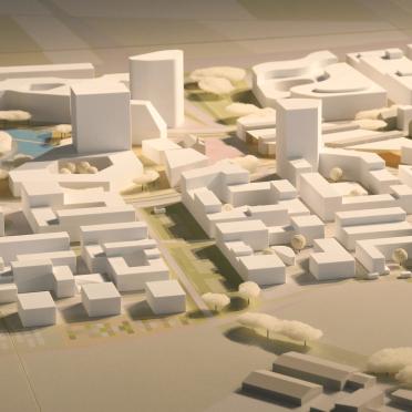Städtebaumodell Architekturmodell 3D-Druck in Heidelberg PHV