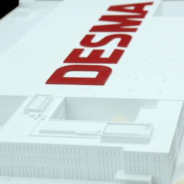 Architekturmodell für Architekten und Bauträger eines Fabrikgebäudes mit 3D Druck produziert