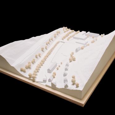 Architekturmodellbau eines Umgebungsmodells für Architekten