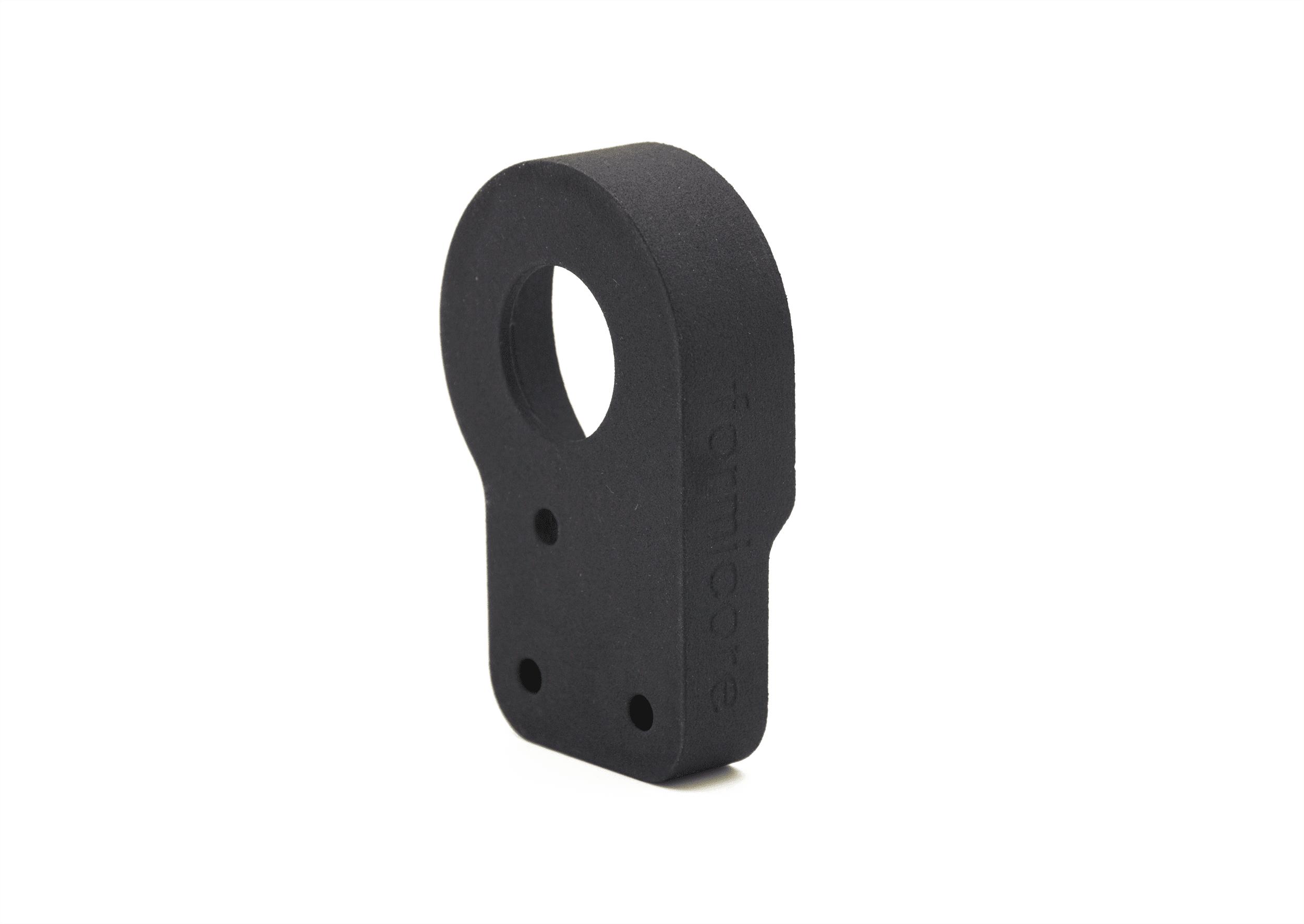 Bauteil mit 3D Druck hergestellt in schwarz