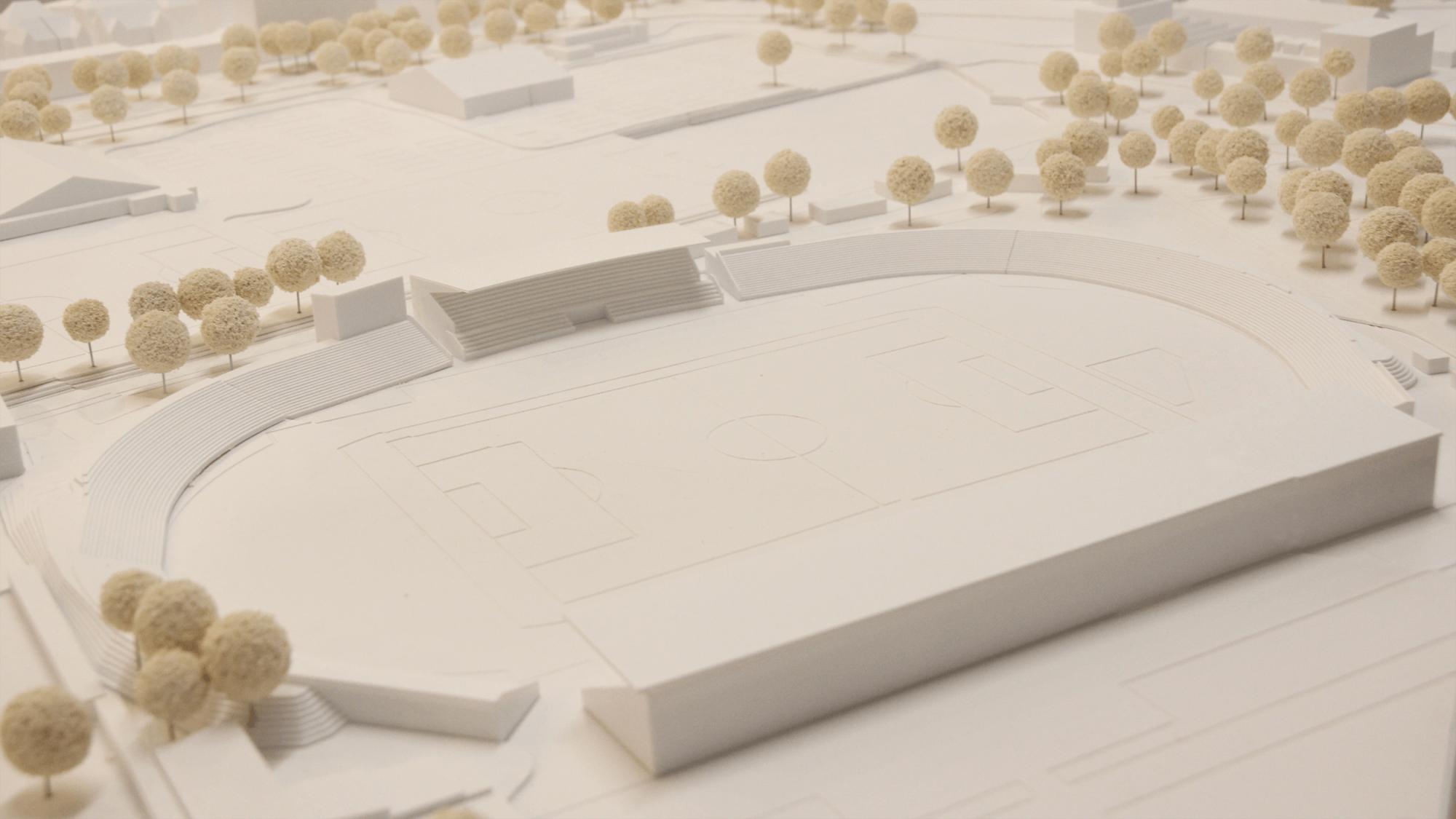 SSV Ulm Architekturmodell Modellbau Weiß