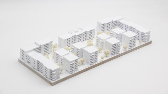 3D Druck Architekturmodell Frankfurt