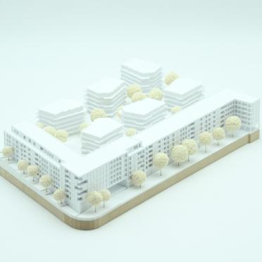 Modellbau eines Modells für ein Architekturmodell Kassel