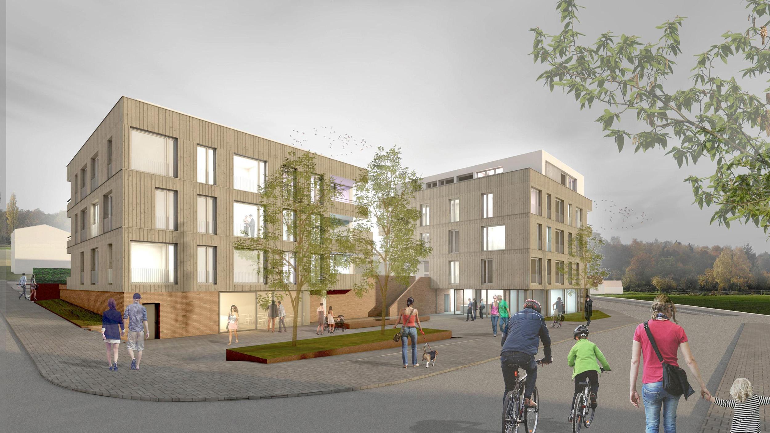 Rendering eines Gebäudes für Architekten