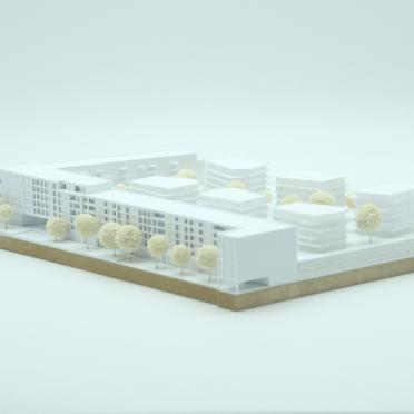 Modellbau eines Architekturmodells für einen teilnehmenden Architekten